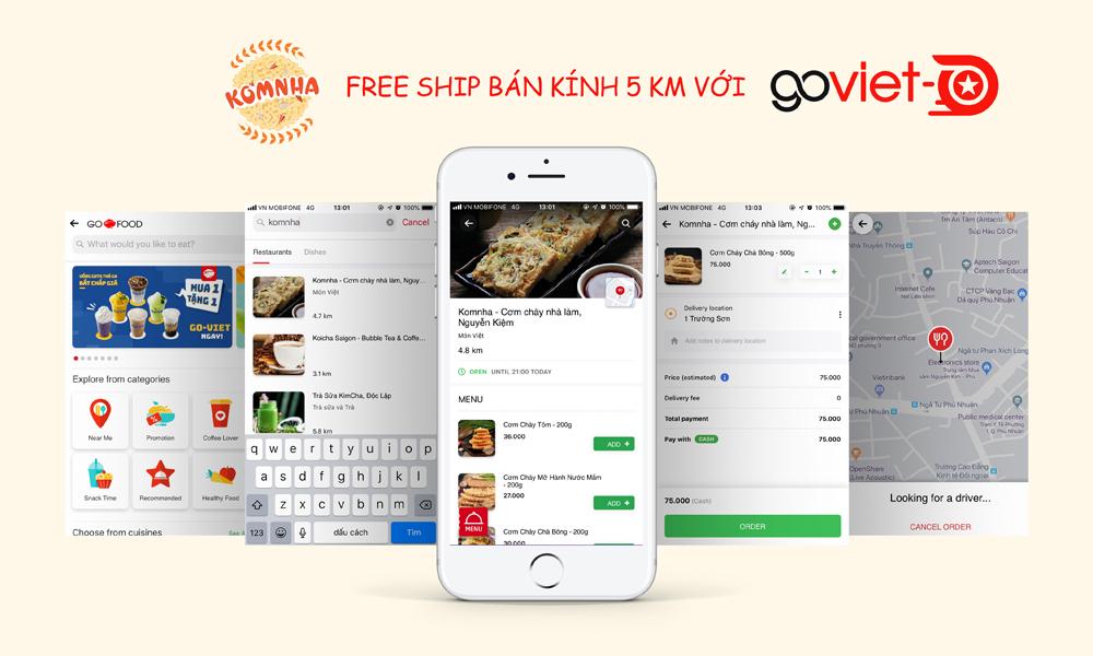 Freeship bán kính 5km với Go-Viet